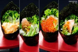 手卷-龍蝦沙拉-鮪魚蔥花-鮭魚卵-鮭魚蔥花